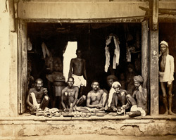 Country shoe makers, probably in Western India